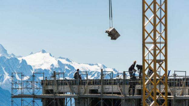 Künstlicher Boom von Baugesuchen für Zweitwohnungen im Wallis (im Bild Crans Montana).