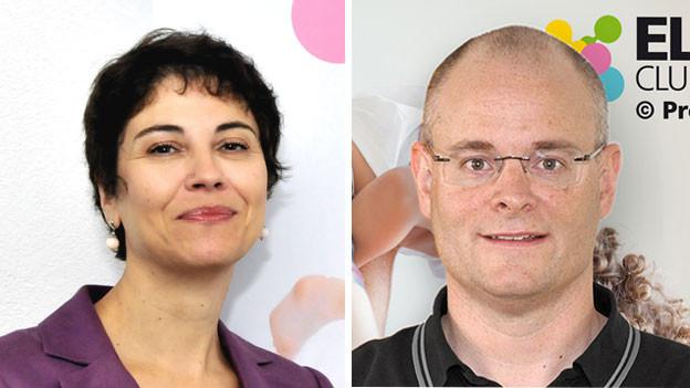 Daniela Melone, Leiterin der Beratung Eltern Club Schweiz und Stephan Oetiker, Direktor von Pro Juventute.