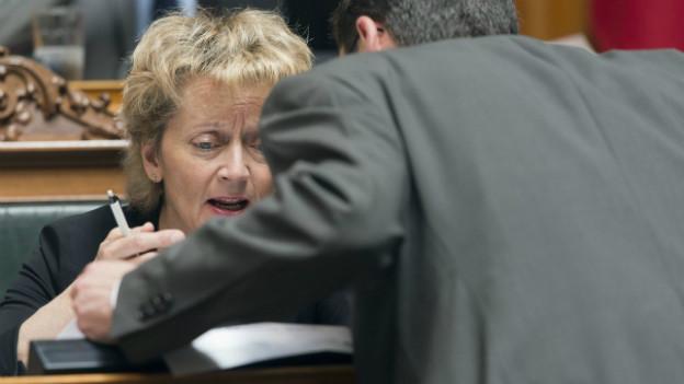 Finanzministerin Eveline Widmer-Schlumpf während der Debatte am 13.6.2013 im Nationalrat.