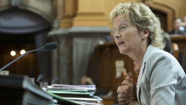 Will den Nationalrat von der Notwendigkeit der Lex USA überzeugen: Finanzministerin Eveline Widmer-Schlumpf.
