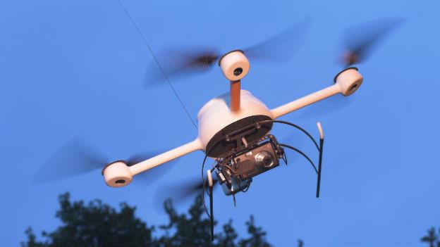 Drohne des Herstellers Microdrones