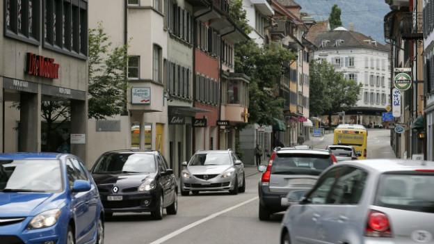 Ein Grund für das Sparprogramm: ein Tunnel soll die Zuger Innenstadt vom Verkehr entlasten.