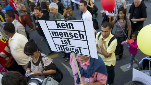 Sans Papiers in die Lehre - forderten noch 2011 DemonstrantInnen in Bern.
