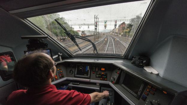 SBB-Lokführer auf der Strecke zwischen Zürich und Genf.