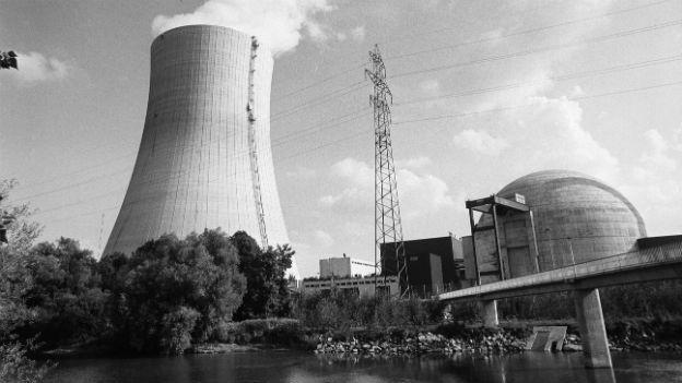 Das Atomkraftwerk Goesgen auf einer Aufnahme von 1979.
