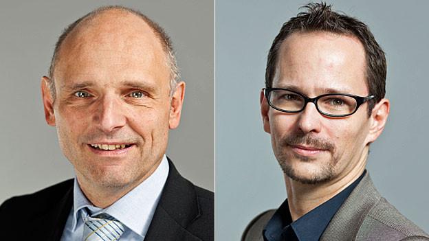 SVP-Nationalrat Alfred Heer und Nationalrat der Grünen Balthasar Glättli.