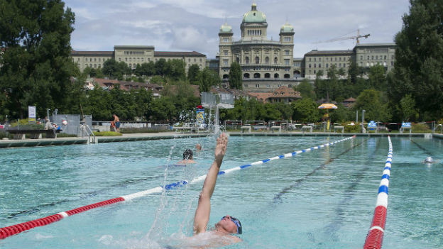 Marzili-Bad in Bern: Vor allem in Städten mangelt es an Sportanlagen.