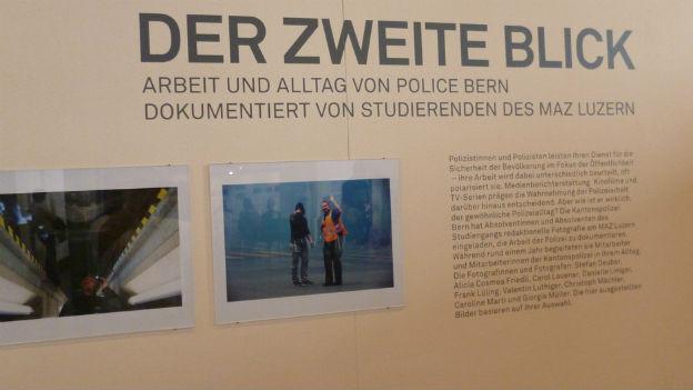 Der Polizei-Alltag als Ausstellung im Kornhausforum Bern.