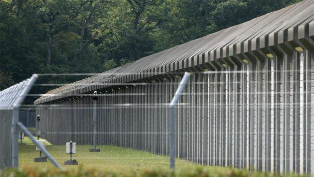 Gefängnis für Verwahrte.