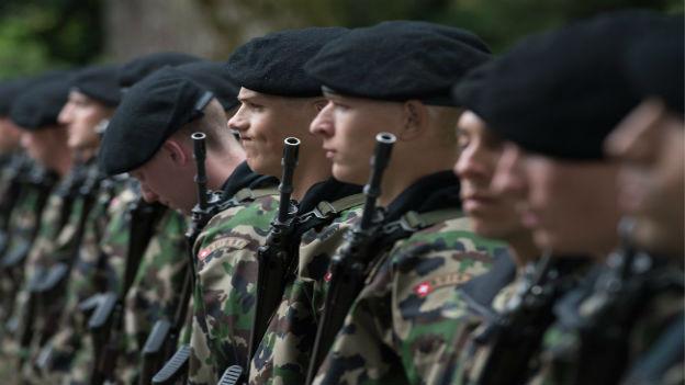 Soldaten der Schweizer Armee.