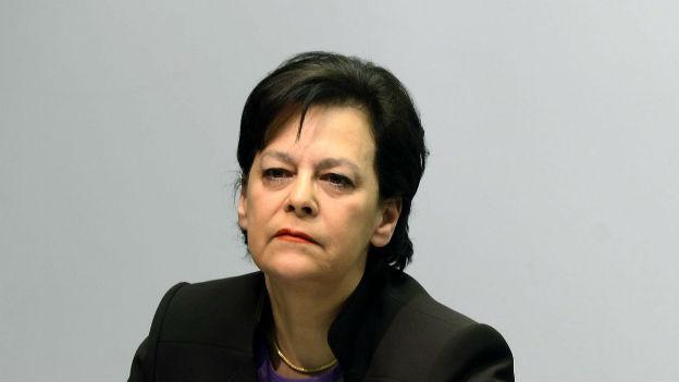 Die Zürcher Finanzdirektorin bei der Budgetmedienkonferenz.