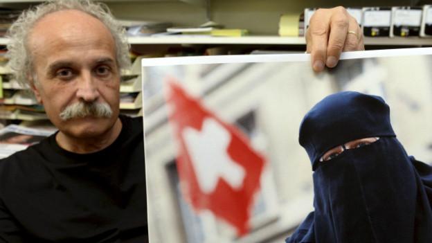 Initiant des Burkaverbotes: Giorgio Ghiringhelli vor der Abstimmung im September 2013.