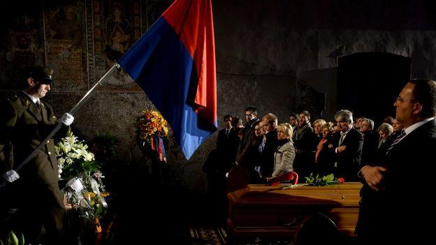Trauerfeier für Michele Barra