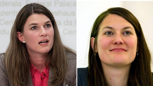 Nationalrätin Nadja Pieren SVP (links) und Nationalrätin Tiana Moser,  Grünliberale  GLP.