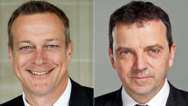 BDP-Präsident Martin Landolt und SVP-Nationalrat Walter Wobmann.