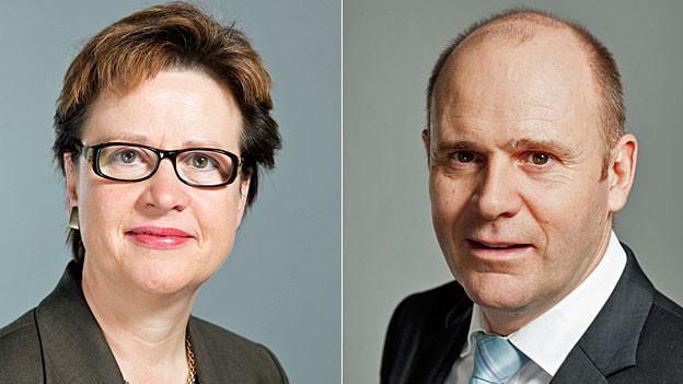 SP-Nationalrätin Edith Graf Litscher und SVP-Nationalrat Thomas Hurter.