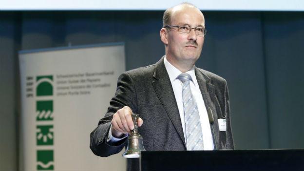 Markus Ritter an der Delegiertenversammlung des Bauernverbandes.