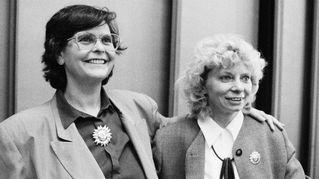 Ruth Dreifuss mit Christiane Brunner (1993)
