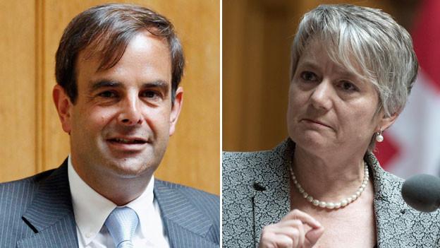 Gerhard Pfister (links) und Jacqueline Fehr.
