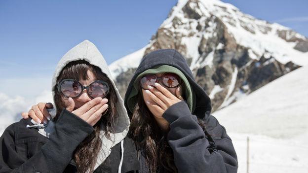 Die chinesischen Touristen in der Schweiz haben das Skifahren entdeckt