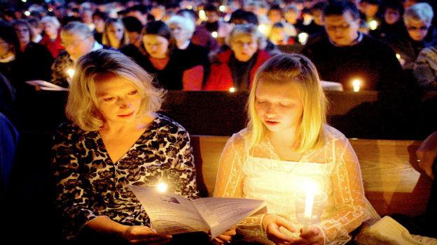 Weihnachtsmesse in den USA.