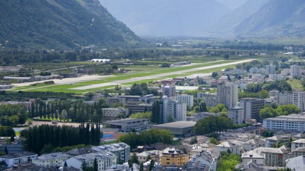 Soll geschlossen werden: Armeeflugplatz in Sion.