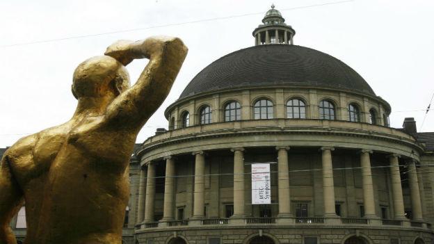 Der Haupteingang der ETH Zürich