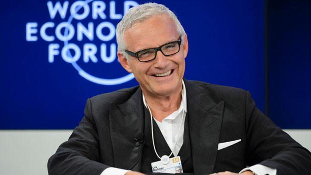 Urs Rohner, Präsident des Verwaltungsrates der Schweizer Bank Credit Suisse (CS), am World Economic Forum WEF in Davos am 24. Januar 2014.