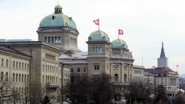 Aussenaufnahme des Bundeshauses