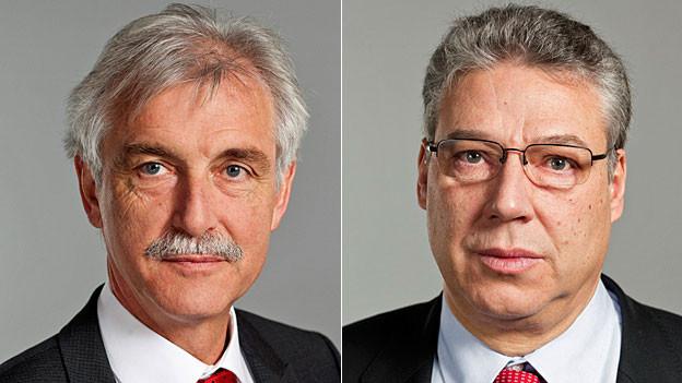 Der Urner GLP-Ständerat Markus Stadler und der Tessiner CVP-Ständerat Filippo Lombardi .