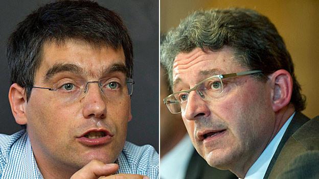 Der Bündner SVP-Nationalrat Heinz Brand und der Waadtänder SP-Nationalrat Roger Nordmann.