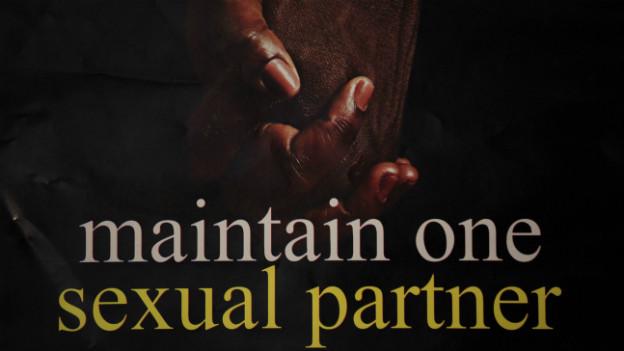 Poster das zur richtigen Partnerwahl mahnt: Homophobe Gesetzgebung in Nigeria.