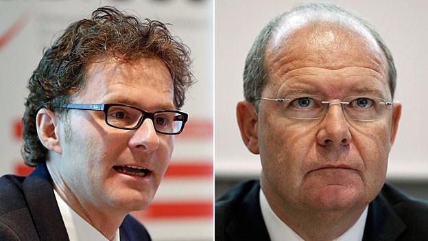 Daniel Lampart und Valentin Vogt.