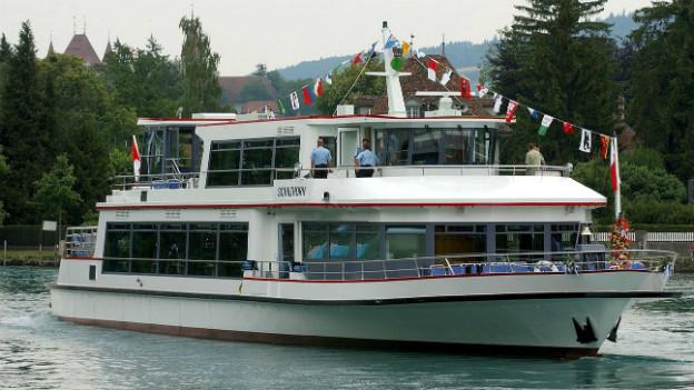Die «MS Schilthorn» der BLS auf dem Brienzer- und Thunersee.