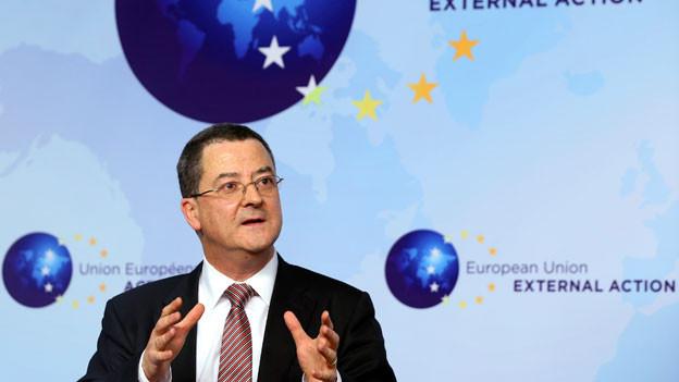 Yves Rossier, Chefdiplomat, in Brüssel, Februar 2014.