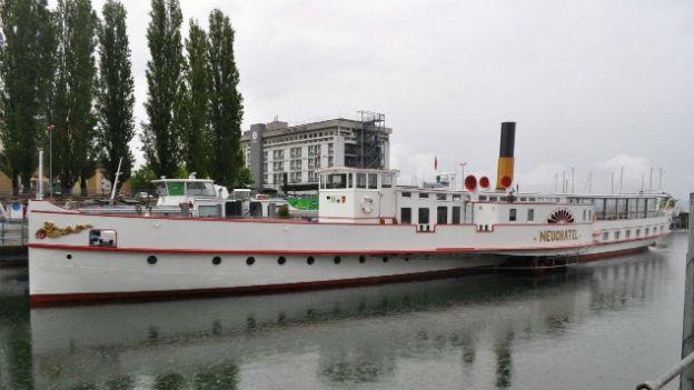 """Das restaurierte Dampfschiff """"Neuchâtel""""."""