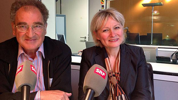 René Levy, emeritierter Professor für Soziologie und NFP60-Studienleiterin Brigitte Liebig, Professorin für Angewandte Psychologie.