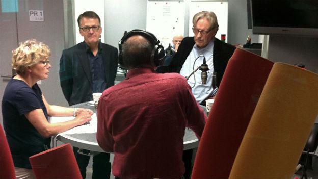 Christine Bühler, Thomas Meyer, Thomas Held – Teilnehmer der Freitagsrunde.