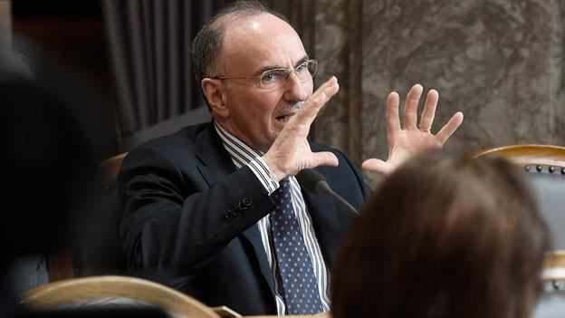 Felix Gutzwiller (FDP/ZH) spricht zur Präimplantationsdiagnostik am, 11. März 2014 im Ständerat in Bern.