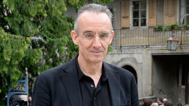 Autor und Verleger Patrick Frey, am 22. Juni 2013 in Gruyère anlässlich der Feier zum 15jährigen Bestehen des HR Giger Museums.