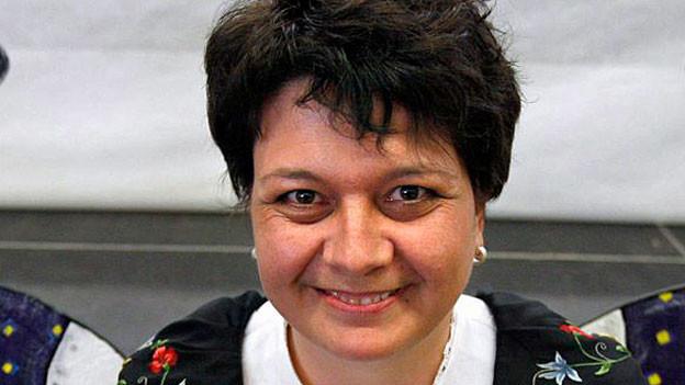Karin Niederberger, Jodlerin und Zentralpräsidentin des Eidgenössischen Jodler-Verbandes.