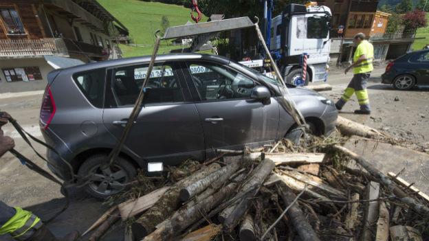 Nach dem Unwetter im Emmental ist von Schäden in Millionenhöhe die Rede.