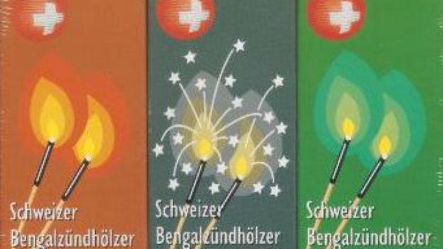 Bengalzündhölzer aus Schweizer Produktion.