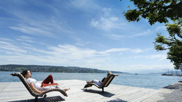 In der Schweiz eher selten dieses Jahr: Sommermoment am Zürichsee.