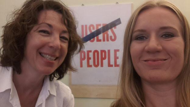 Ein Selfie von Ulla Autenrieth (rechts) und Susanne Brunner.