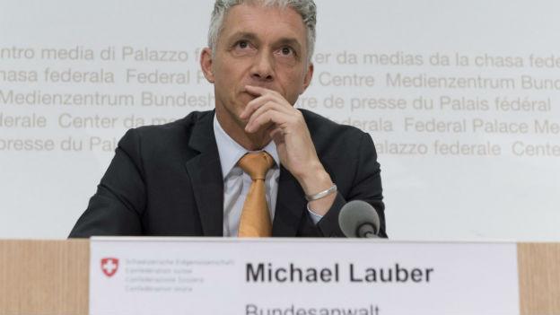 Bundesanwalt Lauber bei der Medienorientierung am Dienstag in Bern.