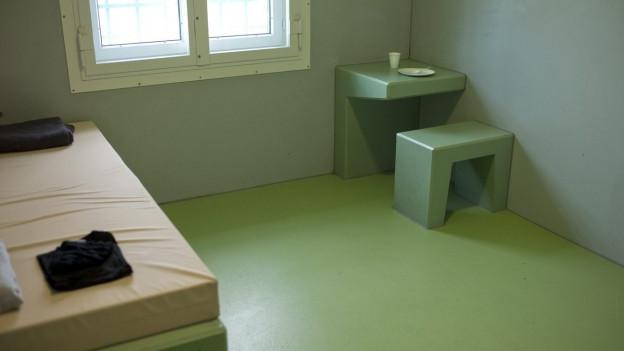 Gefängniszelle im Kanton Zürich.