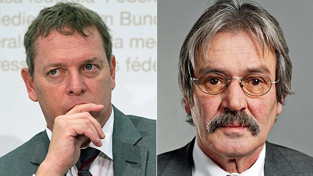 Casimir Platzer von Gastrosuisse und der Solothurner SP-Ständerat Roberto Zanetti.