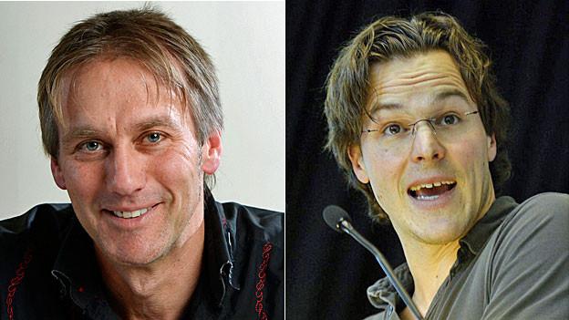 Andreas Thommen, Geschäftsführer von Ecopop (links), und Bastien Girod, Nationalrat Grüne.