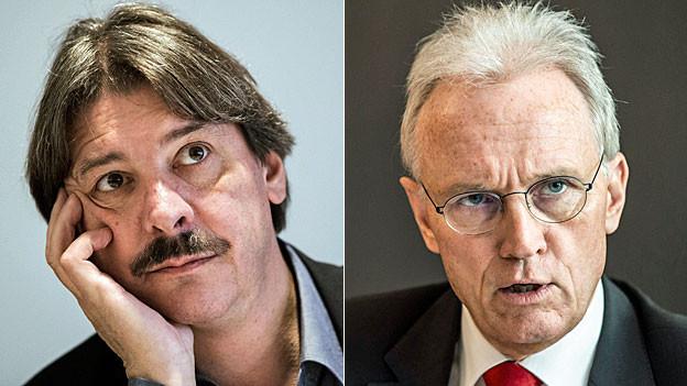 Paul Rechsteiner, Schweizerischer Gewerkschaftsbund, und Hans-Ulrich Bigler, Schweizer Gewerbeverband.